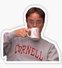 Dwight from The Office in Cornell Gear  Sticker