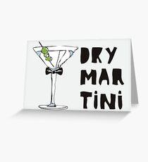 Dry Martini Tarjeta de felicitación