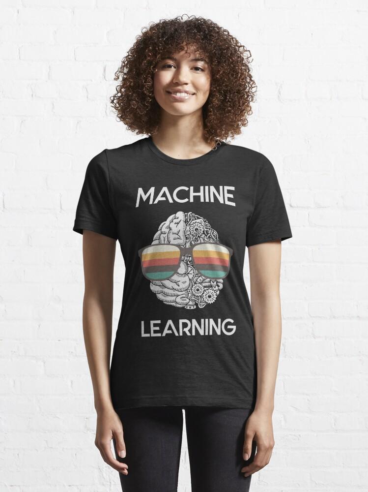 Alternate view of Machine Learning Nerd Essential T-Shirt
