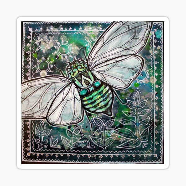 Cicada Summer Sticker