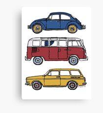 Vintage Volkswagen Family Canvas Print