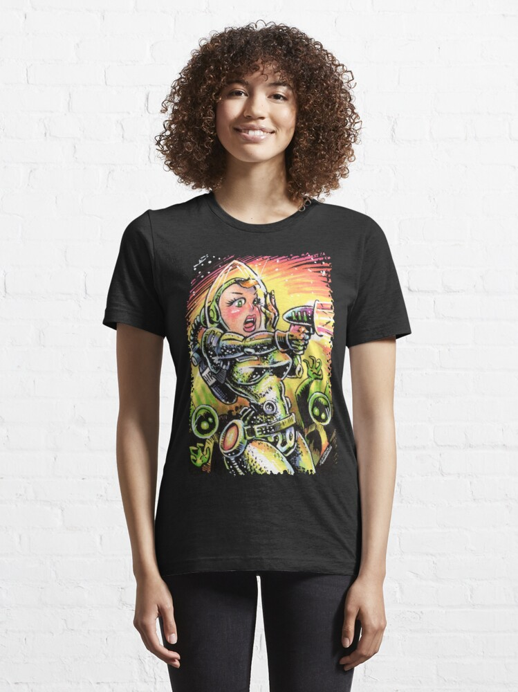 Alternate view of Space Girl 20 Essential T-Shirt