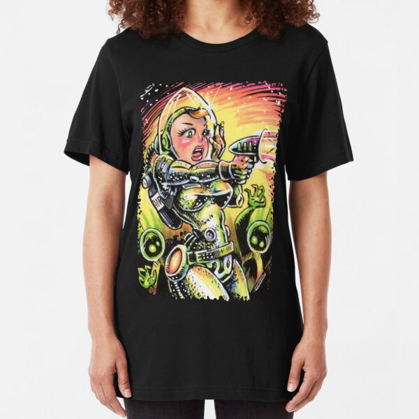 Space Girl 20 Slim Fit T-Shirt