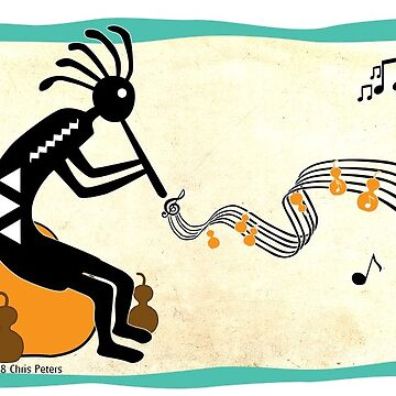 Kokopelli Gourd Music Sticker by Subwaysign