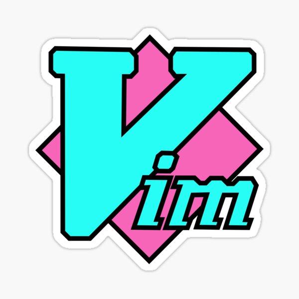 Vaporwave Vim Sticker