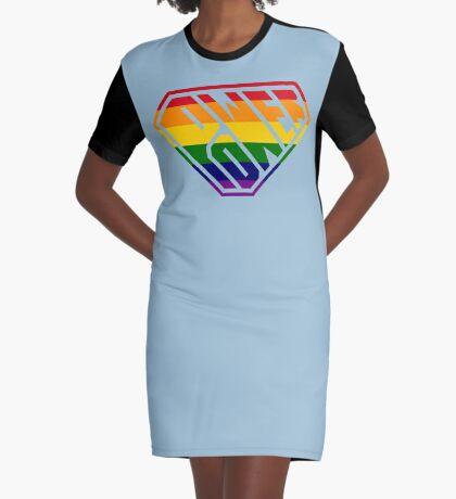 SuperEmpowered (Rainbow) Graphic T-Shirt Dress