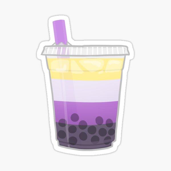 Pride Boba Tea - Nonbinary Sticker