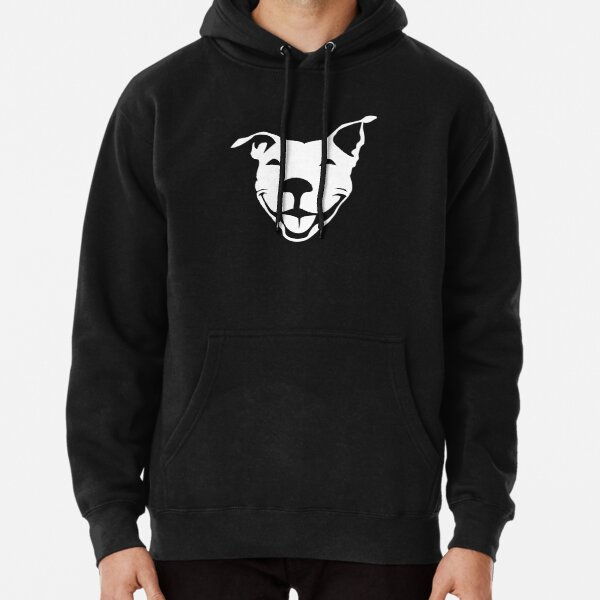 Smiling American Pit Bull Terrier  | NickerStickers® on Redbubble Pullover Hoodie