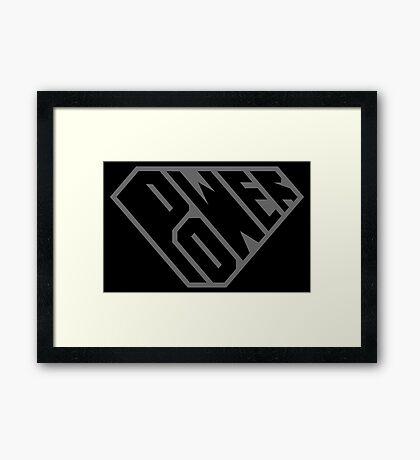 SuperEmpowered (Black on Black) Framed Art Print