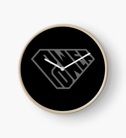 SuperEmpowered (Black on Black) Clock