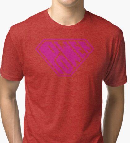 SuperEmpowered (Pink) Tri-blend T-Shirt