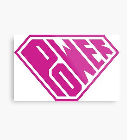 SuperEmpowered (Pink) Metal Print