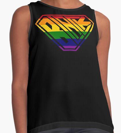 Black SuperEmpowered (Rainbow) Contrast Tank