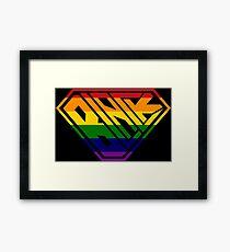 Black SuperEmpowered (Rainbow) Framed Art Print