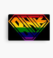 Black SuperEmpowered (Rainbow) Canvas Print