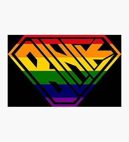 Black SuperEmpowered (Rainbow) Photographic Print