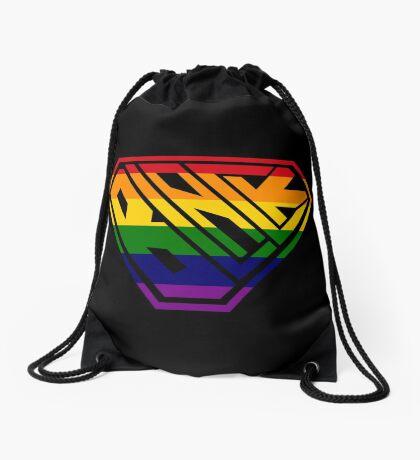Black SuperEmpowered (Rainbow) Drawstring Bag