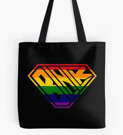 Black SuperEmpowered (Rainbow) Tote Bag