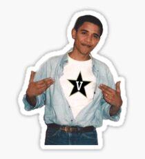 obama loves vanderbilt Sticker