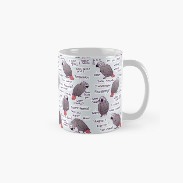 Einstein African Grey Parrot Funny Quotes Classic Mug