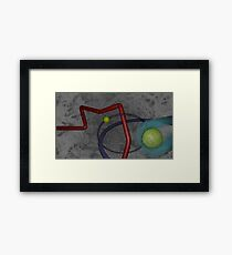 Abstract Tubes Framed Print
