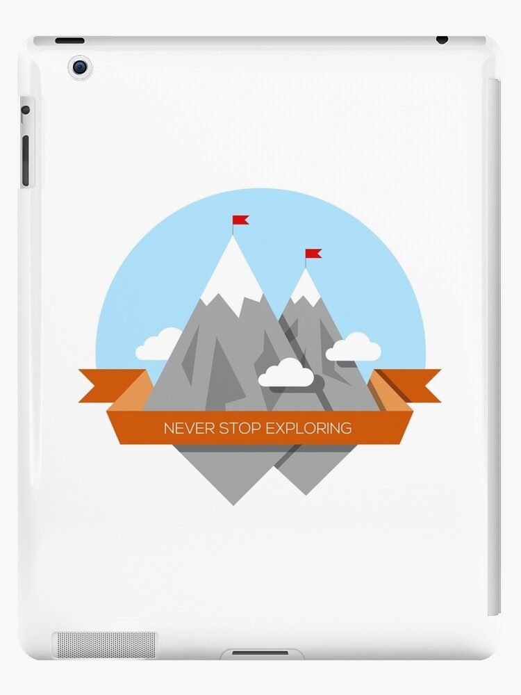 Mountain illustration. Never stop exploring by tumasia