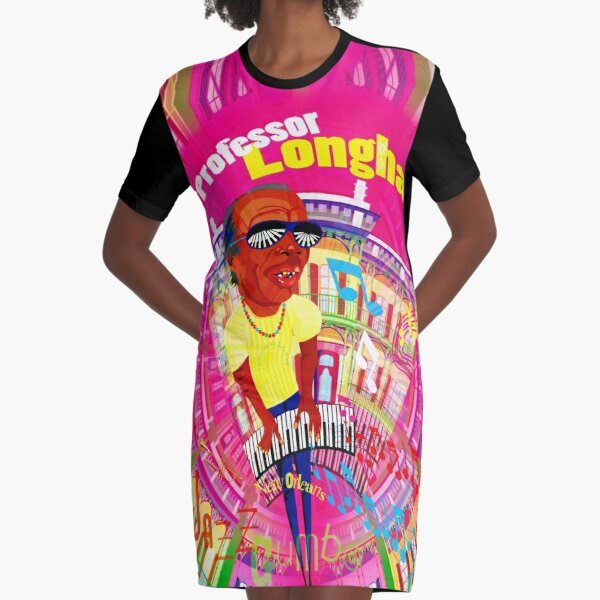 JAZZ GUMBO Professor LONGHAIR Graphic T-Shirt Dress