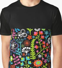 Insect and Flower Art Graphic T-Shirt