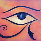 Egyptian Eye, eye of Horus by lizzyforrester