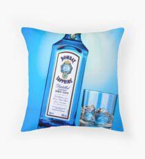 Advertising - Bombay Sapphire Throw Pillow