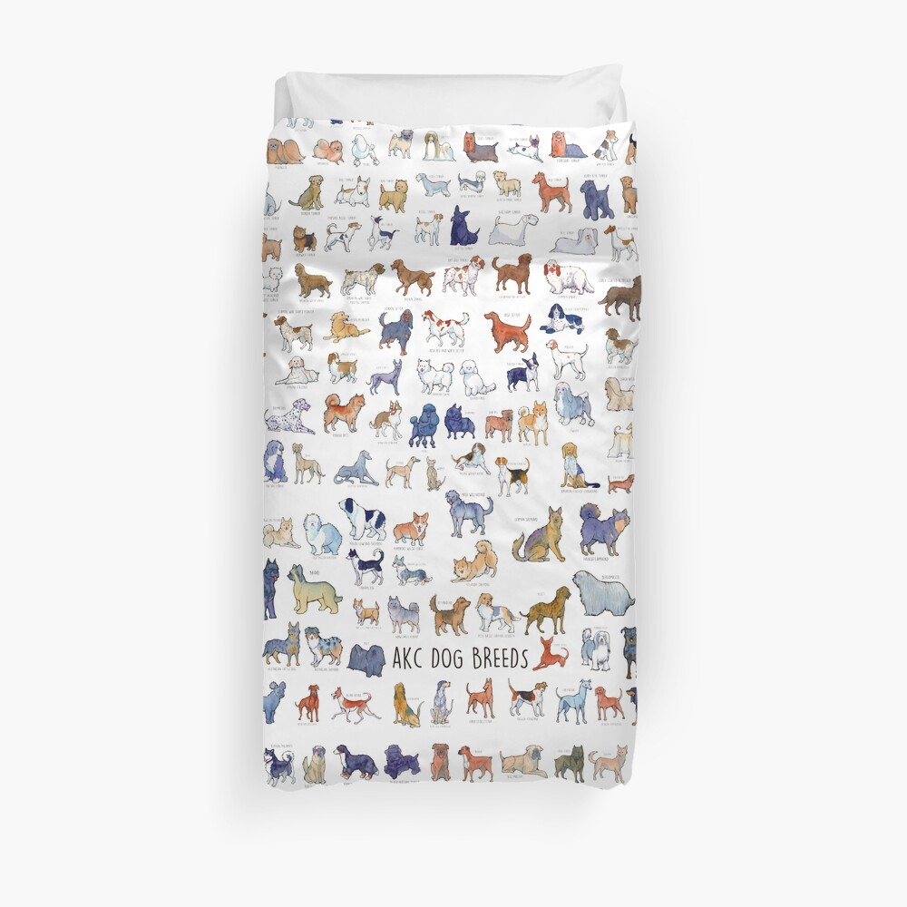 Every AKC Dog Breed Duvet Cover