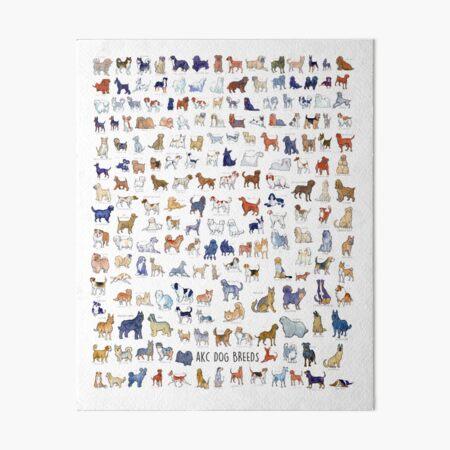 Every AKC Dog Breed Art Board Print