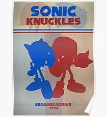 Megadrive - Sonic and Knuckles Poster