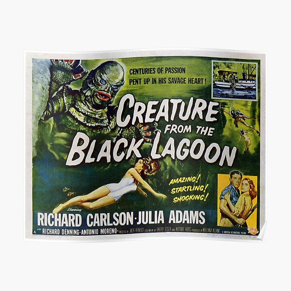 Creature from the Black Lagoon Lobby Card Poster