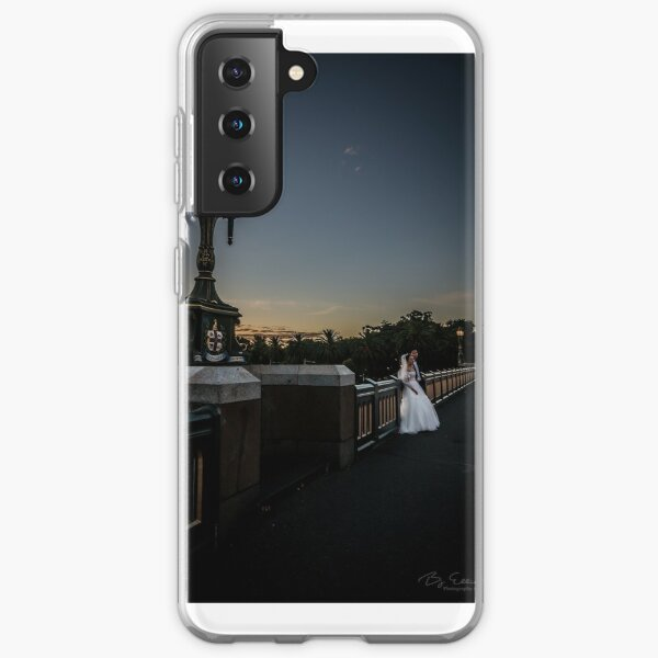Young Married Couple on Princes Bridge, Melbourne  Samsung Galaxy Soft Case