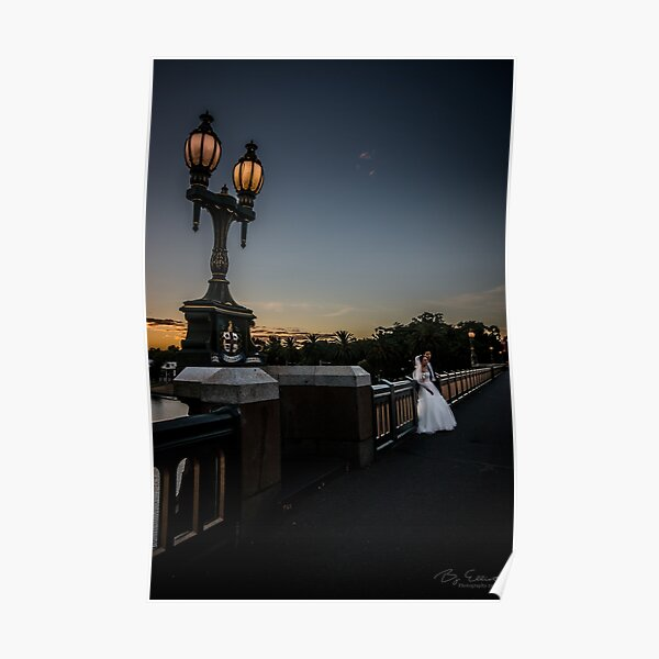 Young Married Couple on Princes Bridge, Melbourne  Poster