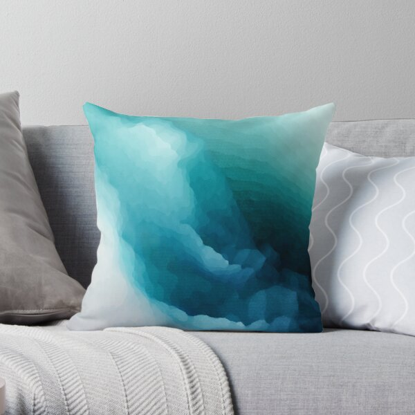 """""""Inner Calm"""" Turquoise Modern Abstract  Throw Pillow"""