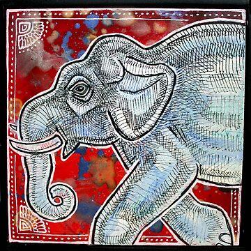 Traveling Elephant by LynnetteShelley