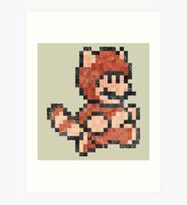 Super Mario Tanooki Vintage Pixels Art Print