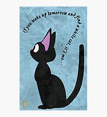 Jiji The Cat (No BG) Photographic Print