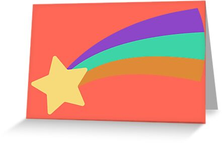 Mabel Shooting Star Sweater Greeting Cards By Bushinoodle Redbubble