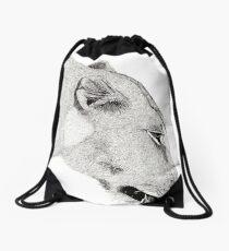 Lioness Drawstring Bag