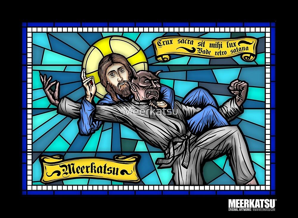 jesus vs satan by meerkatsu redbubble