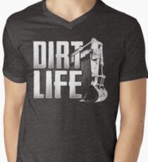 DIRT LIFE - Heavy Equipment Operators Men's V-Neck T-Shirt