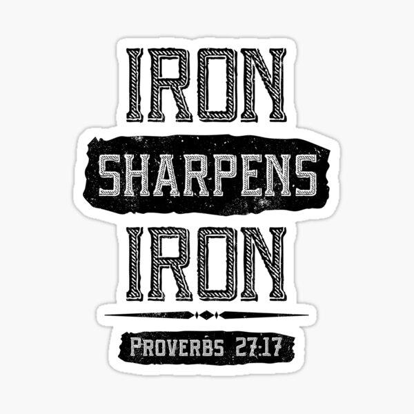 Iron Sharpens Iron Sticker   Bible Verse Stickers   Christian Stickers for Men   Phone Case Religious Stickers   Christian iPad Stickers Sticker