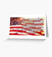 Woodrow Wilson Quote on Flag Greeting Card