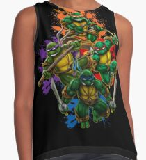 Teenage Mutant Ninja Turtles Colorful Splatter Background Illustration Contrast Tank