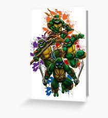 Teenage Mutant Ninja Turtles Illustration Greeting Card