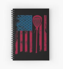 American Flag lacrosse stick | lacrosse player gift | game day shirt | lacrosse accessories | lacrosse shirt | lacrosse | lacrosse coach | lacrosse coach gift | lacrosse mom | lacrosse dad Spiral Notebook