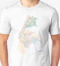 Camiseta unisex Metro tipográfico de la ciudad de Nueva York